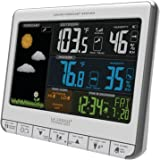 La Crosse Technology 308-1412S Color LCD Wireless Weather Station with USB Charging Port and Customizable Temperature Alerts