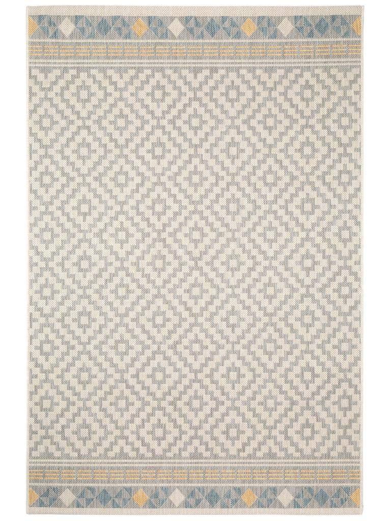Benuta Outdoor Teppich Star Geometrisch Taupe 80x150 cm   Pflegeleichter Teppich geeignet für Innen- und Außenbreich, Balkon und Terrasse