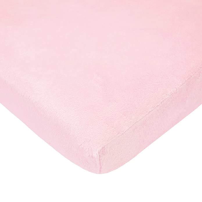 American Baby Company Heavenly Soft Chenille Fitted Pack N Play Playard Sheet, Pink, 27 x 39, for Girls