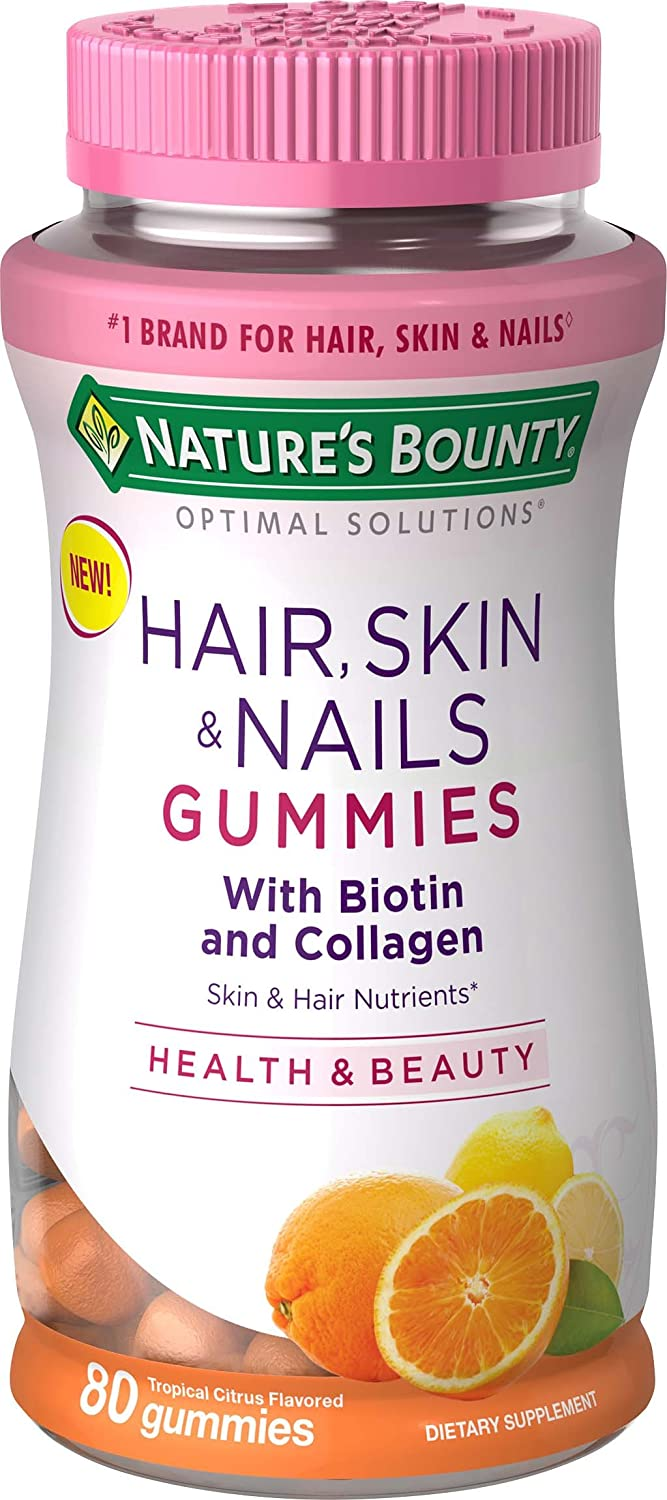 Amazon Com Nature S Bounty Hair Skin Nails With Biotin