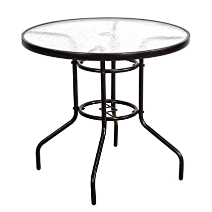 Amazon Com Furniture Outdoor Patio Table Patio Tempered Glass Table