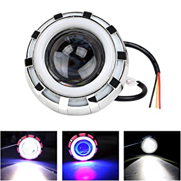 Allextreme Led Angel S Eye Ring Projector Lamp Red And Blue
