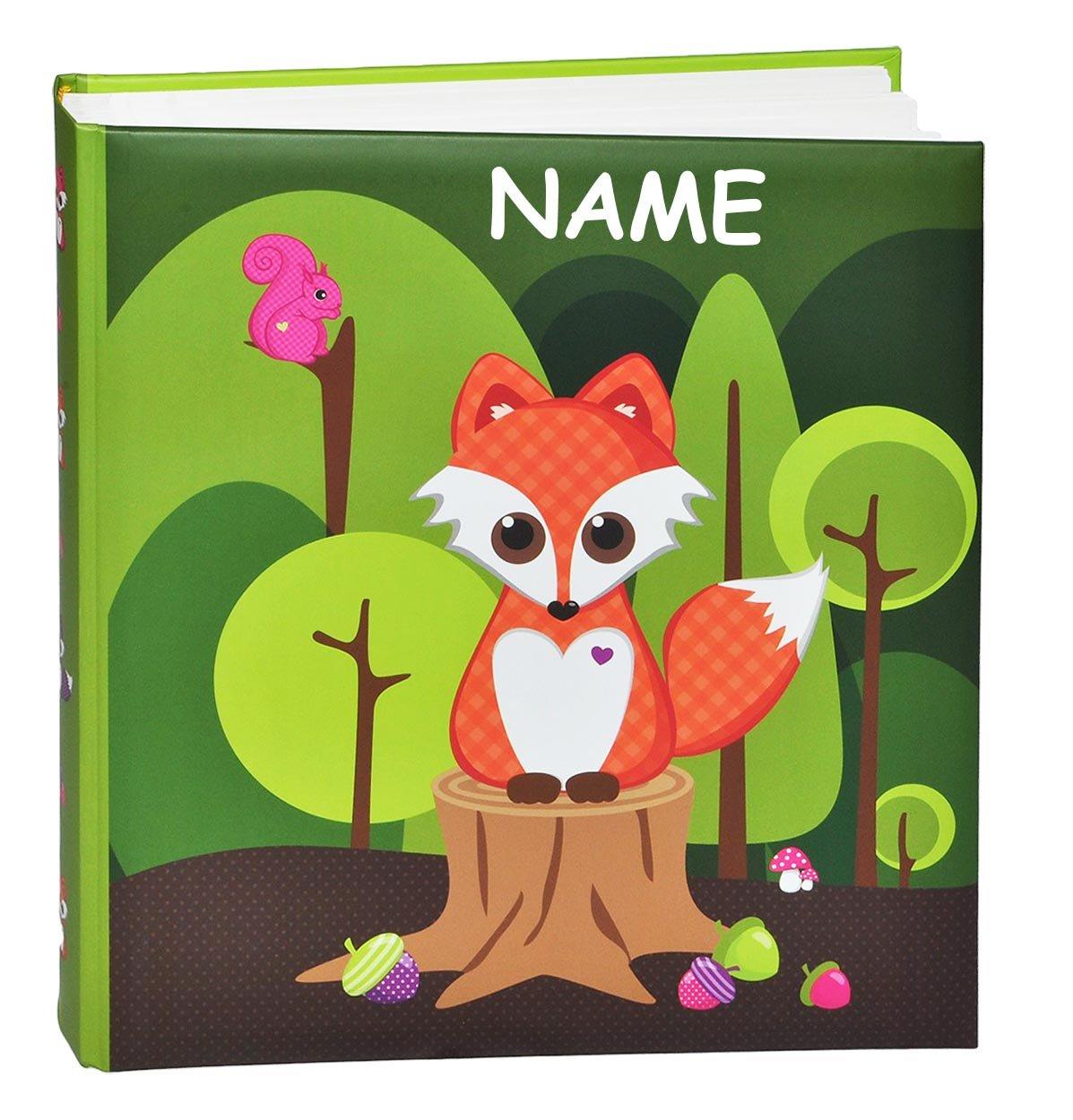 Unbekannt Fotoalbum Fuchs Tier Eichhörnchen - incl. Namen - Gebunden zum Einkleben blanko - groß für bis zu 336 Bilder - Fotobuch / Photoalbum / Kinderalbum / Album - f..