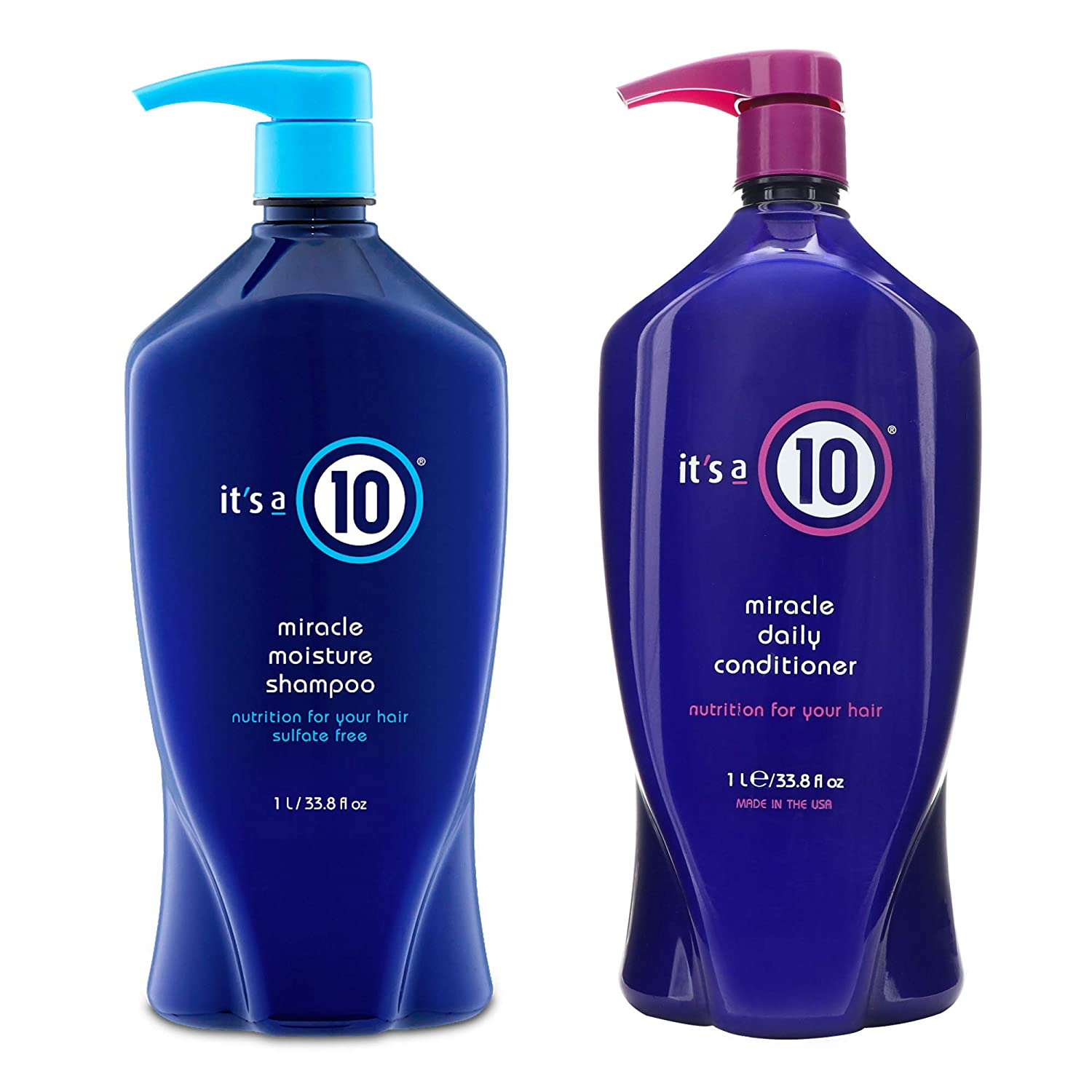 It's a 10 Miracle Shampoo & Conditioner Large Combo Set, 33.8 oz