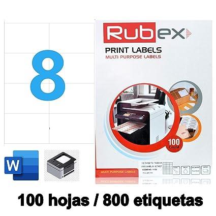 Etiquetas Adhesivas Blancas.Papel de Pegatina para imprimir ...