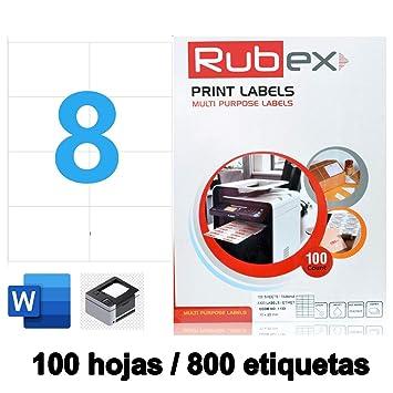 Etiquetas Adhesivas Blancas.Papel de Pegatina para imprimir DIN A4 ...