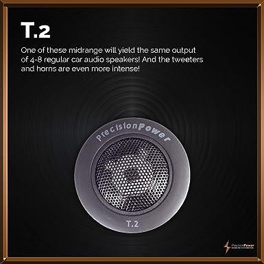 Precision Power T.2 1 Niobium Tweeters Built In X Over 100w 4ohm