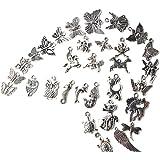 100pcs Wholesale Retro Silver Charm Tibetan Pendants Mixed In Bulk For DIY Necklace Bracelet Jewelry Making