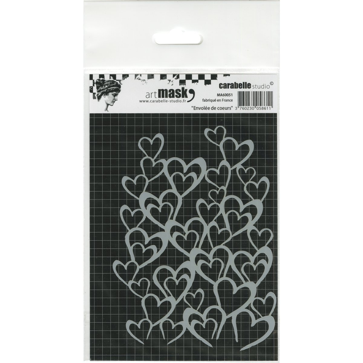 Carabelle Studio MA60051 Mask A6-Flight of Hearts
