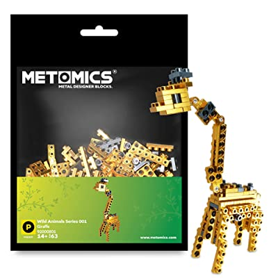 Metomics Creative Building Block Pocket - Wild Animals Series 001 Giraffe 63 pcs Pack (Gold): Toys & Games