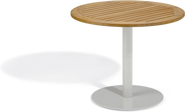 Oxford Garden TV36TAN Travira 36-Inch Bistro Table, Natural Tekwood