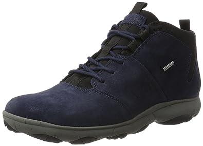 Geox U Nebula 4 X 4 B ABX A, Mädchen Combat Boots, Blau (