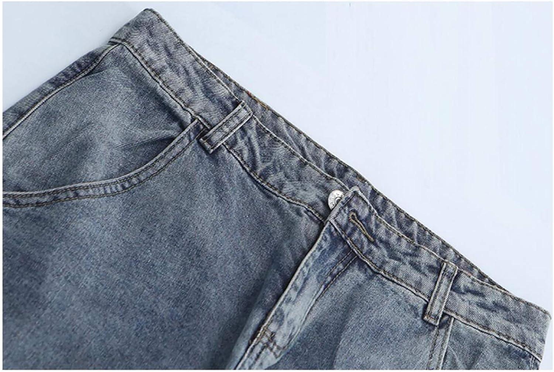 Vaqueros Ropa Irypulse Vaqueros Jeans Para Hombres Pantalones Mezclilla Rasgados Agujeros Lapiz Ajustados Retro Lavados Multibolsillos Moda Casual Pantalones Para Adolescentes Nino Cintura Comoda Abotonada