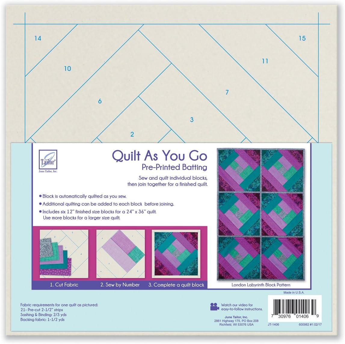 June Tailor Paris//Poin-Quilt As You Go Btng Acrylic Multicolour 29.21x29.21x3.81 cm