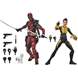 Hasbro Marvel Legends Series - Figuras premium coleccionables de Deadpool y Negasonic Teenage Warhead - 15 cm - con 13 acceso