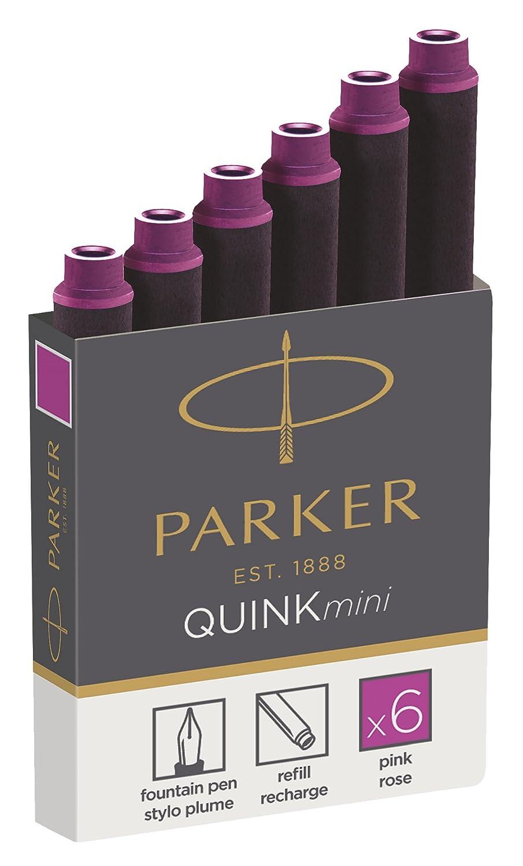 Parker Quink ricariche per penne stilografiche, cartucce corte, inchiostro rosso, confezione da 6 Newell Rubbermaid 1950408