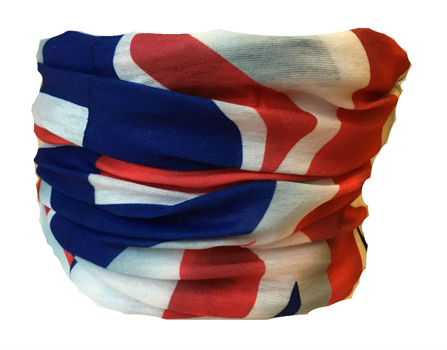 Multifunction Neckwarmer, Snood, Hat, Scarf and Hood in Union Jack print by Monogram