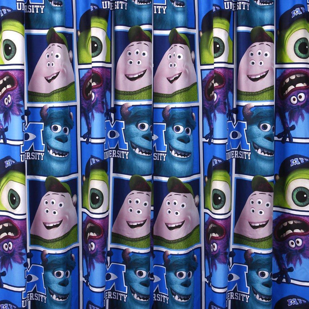 Character World 72-inch Disney Monsters University Curtains, Multi-Color DMI-UNI-72M-MSCx-12xx