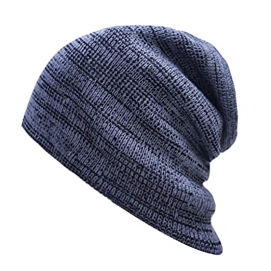 b6df2b87217 Ab Line Autumn and Winter Striped Hat Cap Men and Women Autumn and Winter  Warm Knitting Wool Hat at Amazon Women s Clothing store