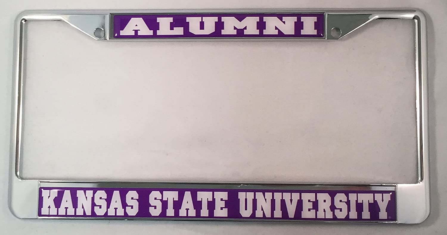 Kansas State University Alumni Metal License Plate Frame For Front Back of Car Desert Cactus