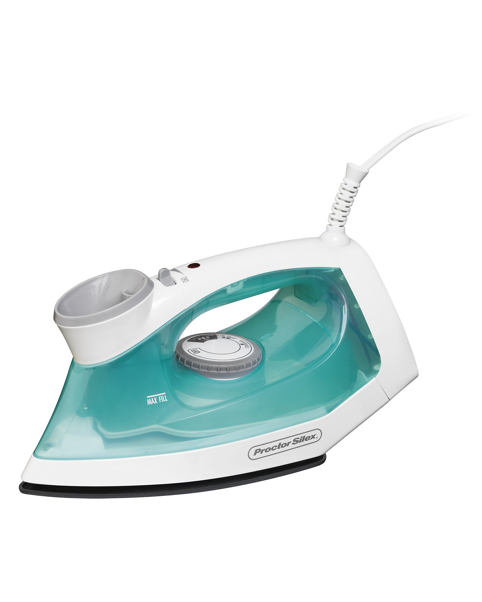 Proctor Silex Steam Iron with Easy Fill Water Reservoir & Nonstick Soleplate (17325)