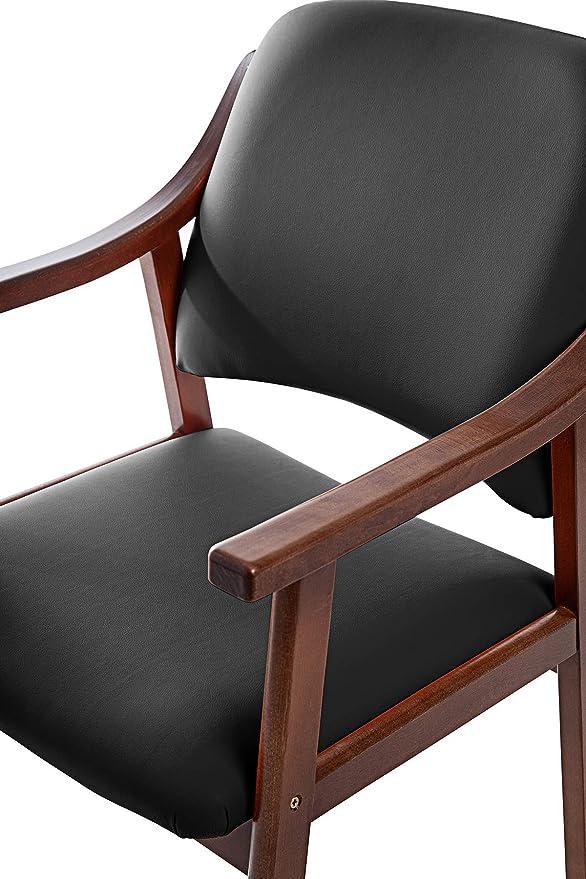 SUENOSZZZ - Pack de 2 Sillas Altea de Madera de Haya, Color Negro. Sillas para Comedor/Salon/habitacion | Silla geriatrica | Silla Madera | Mueble ...