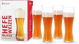 Spiegelau Beer Classics Hefeweizen Glasses, Set of 4, European-Made Lead-Free Crystal, Modern Beer Glasses, Dishwasher Safe, Professional Quality Hefe Glass Gift Set, 24.7 oz