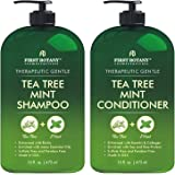 Tea Tree Mint Shampoo and Conditioner - This set contains Pure Tea Tree Oil & Peppermint Oil - Fights Hair Loss…