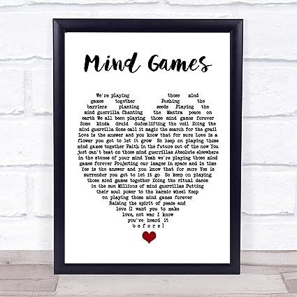 Amazon.com: CEDBUYOO Mind Games John Lennon Quote Song Lyric ...