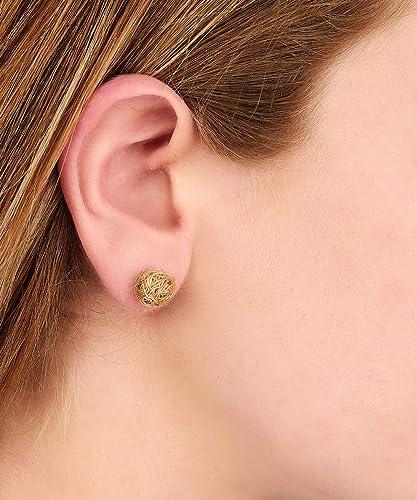 Bae stud minimalist earrings knot earrings anniversary gift tiny earrings gold plated earrings boho earrings gift for her