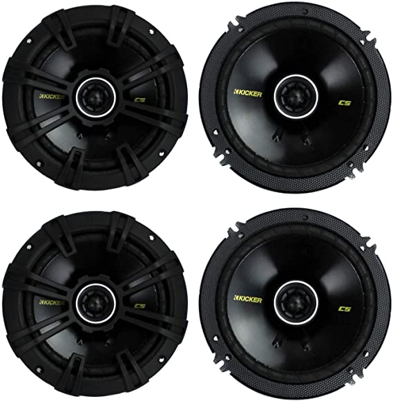 "Kicker CSC65 Car Audio Full Range 6 1//2/"" Coaxial 600W Speakers Pair 43CSC654"