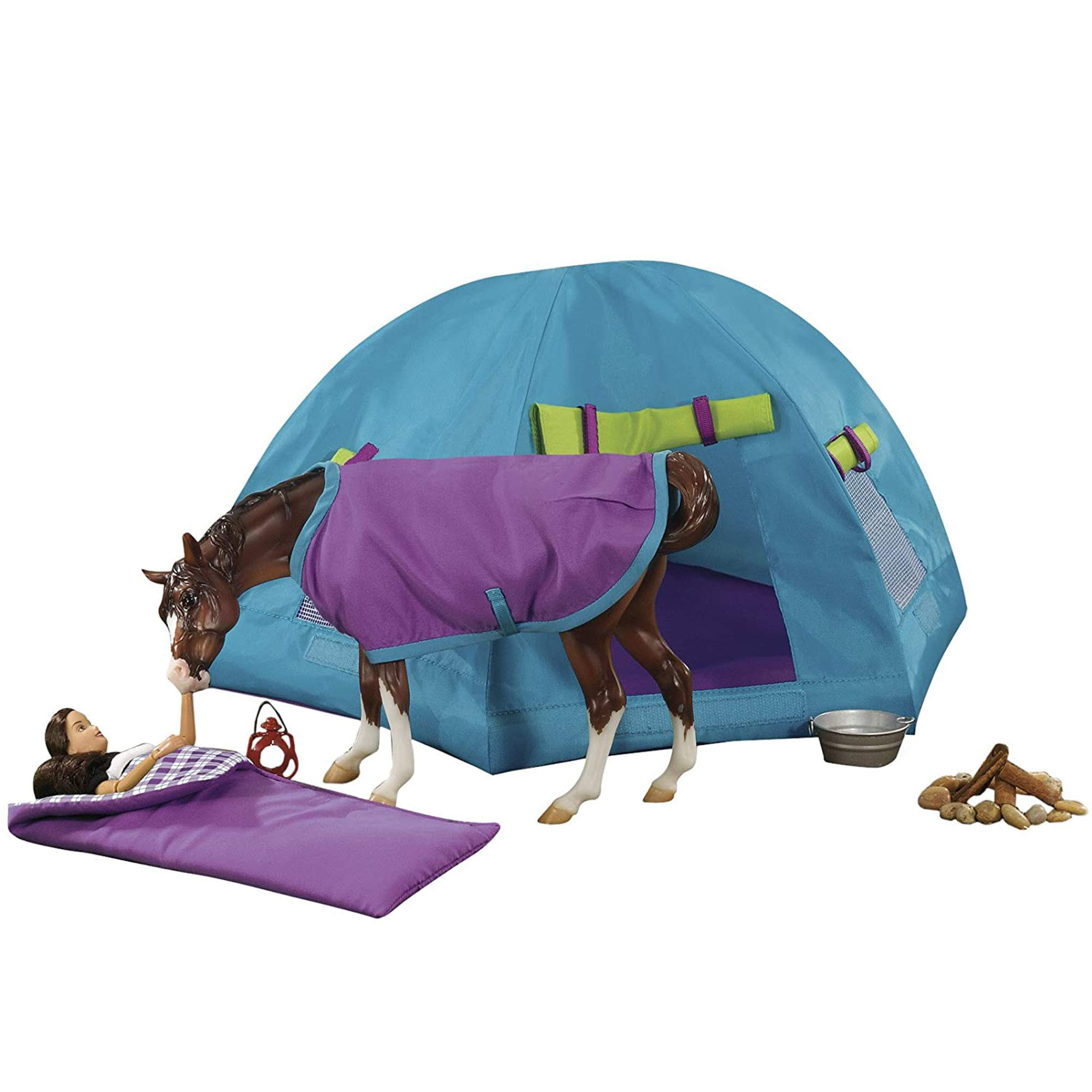 Breyer Horses Traditional Series Accessory | Backcountry Camping Set | Horse Toy Gift Set | Model #1380 (1:9 Scale),Multi-colored