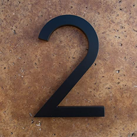 2 Black House Numbers