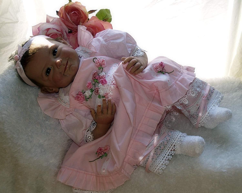 Reborn Baby Girl Dolls Newborn 22inch Lifelike Vinyl Silicone Reborn Doll Handmade Weighted Baby for Age 3+