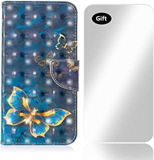 Coque Galaxy J4 Plus, Bear Village® 3D Imprimé Créatif Étui en Cuir avec Gratuit Protection D'écran en Verre Trempé et Fentes Carte de Crédit pour Samsung Galaxy J4 Plus (#1 Flamant)