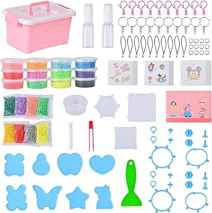 Queta Aquabeads 24 Colores, 10100pcs Abalorios Cuentas de Agua Craft Beads Sticky para Niños Niños DIY Crafting Educational DIY Juguetes: Amazon.es: Juguetes y juegos