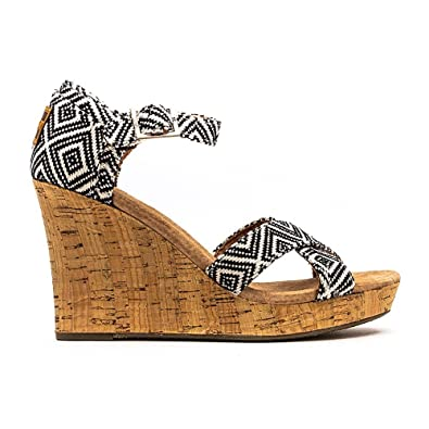 46706c243ac TOMS Women s Strappy Wedge Canvas Sandal (35-36 EUR  5 B(M