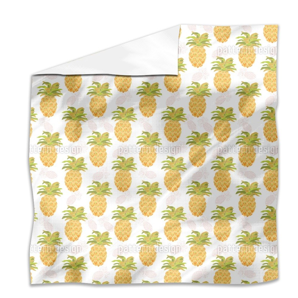 I Want Pineapples Flat Sheet: King Luxury Microfiber, Soft, Breathable