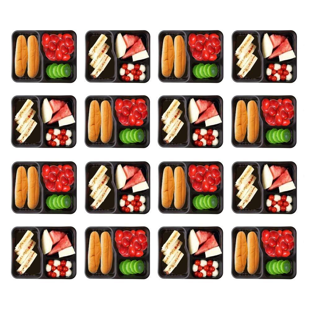 HOMELODY 20er Pack Frischhaltedose 3-Fach Meal Prep Container Frischhaltedosen Bento-Box Set mit Deckel Sp/ülmaschine Mikrowelle Gefrierschrank Safe Lebensmittelbeh/älter