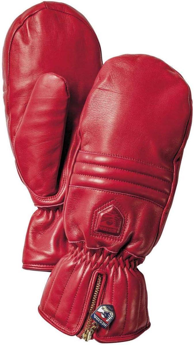 Hestra ヘストラ Leather Swisswool Classic Mitten レザー スイスウール クラシック ミトン 9 赤 [並行輸入品]