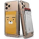 Ringke Slot Card Holder [Clear Mist] Tarjetas para Celular Slim Duro Adhesivo Accesorio para Celular Smartphone para iPhone,
