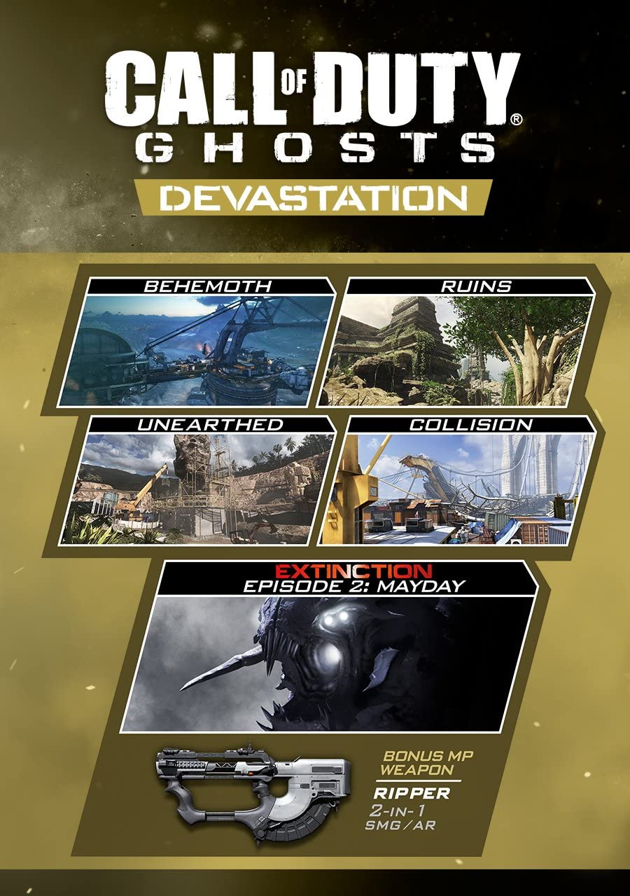 Amazon.com: Call of Duty: Ghosts - Devastation [Online Game ... on call of duty black ops 3 release date, call of duty black ops rezurrection, call of duty ghost whiteout map, call duty ghost alien, call of duty black ops screenshots, black ops 1 dlc maps, bo2 dlc maps, call of duty 3 maps, sniper ghost warrior maps, call of duty mw3 maps, black ops 2 dlc maps, call of duty ghosts dlc fog, call of duty black ops 2 orientation, call of duty black ops moon map, call of duty extinction map, call of duty advanced warfare goliath, call of duty black ghost, call of duty world at war zombie maps, all call of duty ghost maps, call of duty mw3 dome,