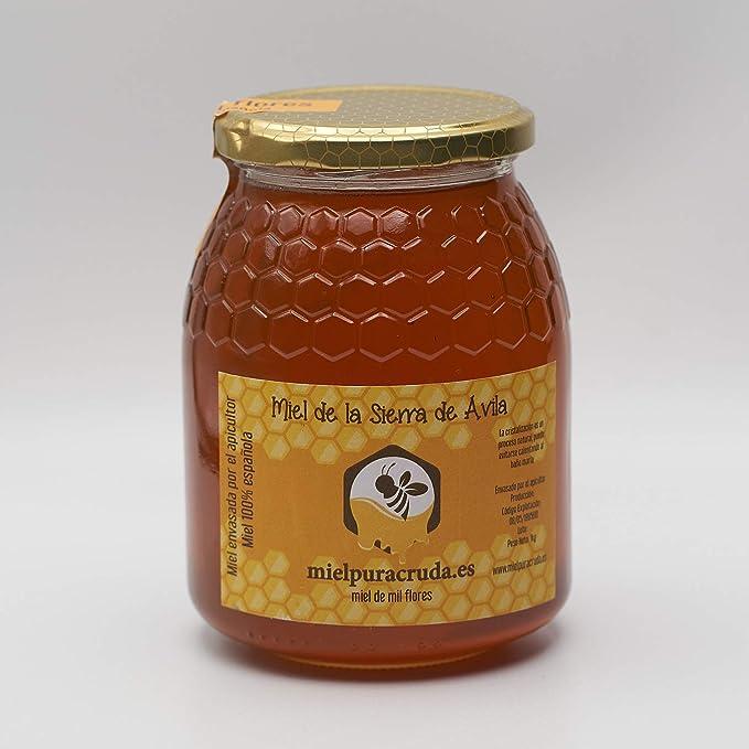 Miel de la Sierra de Ávila Envasada Directamente de Apicultor, 100% española. 1 kilo Neto. Natural y Pura.: Amazon.es: Alimentación y bebidas
