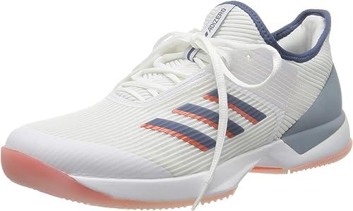 adidas Adizero Ubersonic 3 Allcourtschuh Damen Weiß, Blau