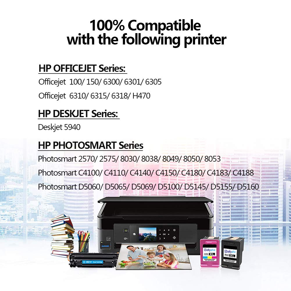 LD © 5pk Comp Ink Cartridge for HP 906 906XL Black OfficeJet Pro 6960 6968 6970