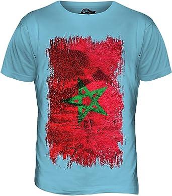 Marruecos Grunge Bandera - camiseta hombre Camiseta Top - algodón, Chicle, 100% algodón 100% ringspun 100% machine, Hombre, XX-Large: Amazon.es: Ropa y accesorios