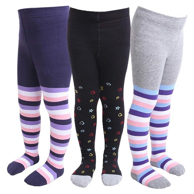 3*Baby Infant Boys Girls Tights Leg Warm Cotton Blend Bundle Toddler 0-6-12-24M
