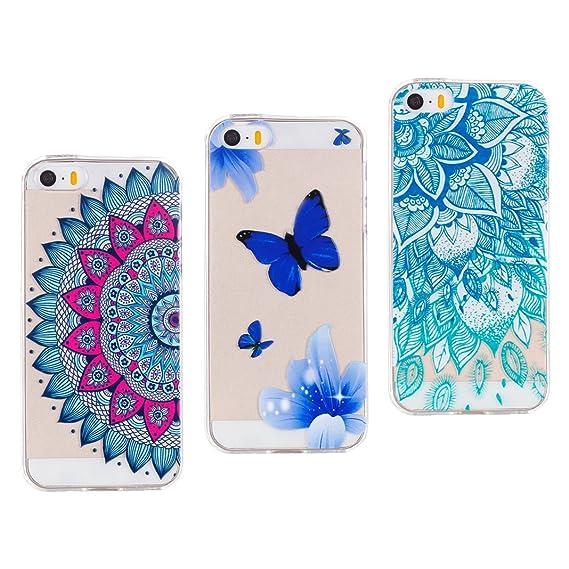 546124d06c6d47 Amazon.com: [3 Pack] iPhone 5S Case, iPhone 5 SE Cover Case, Rosa ...