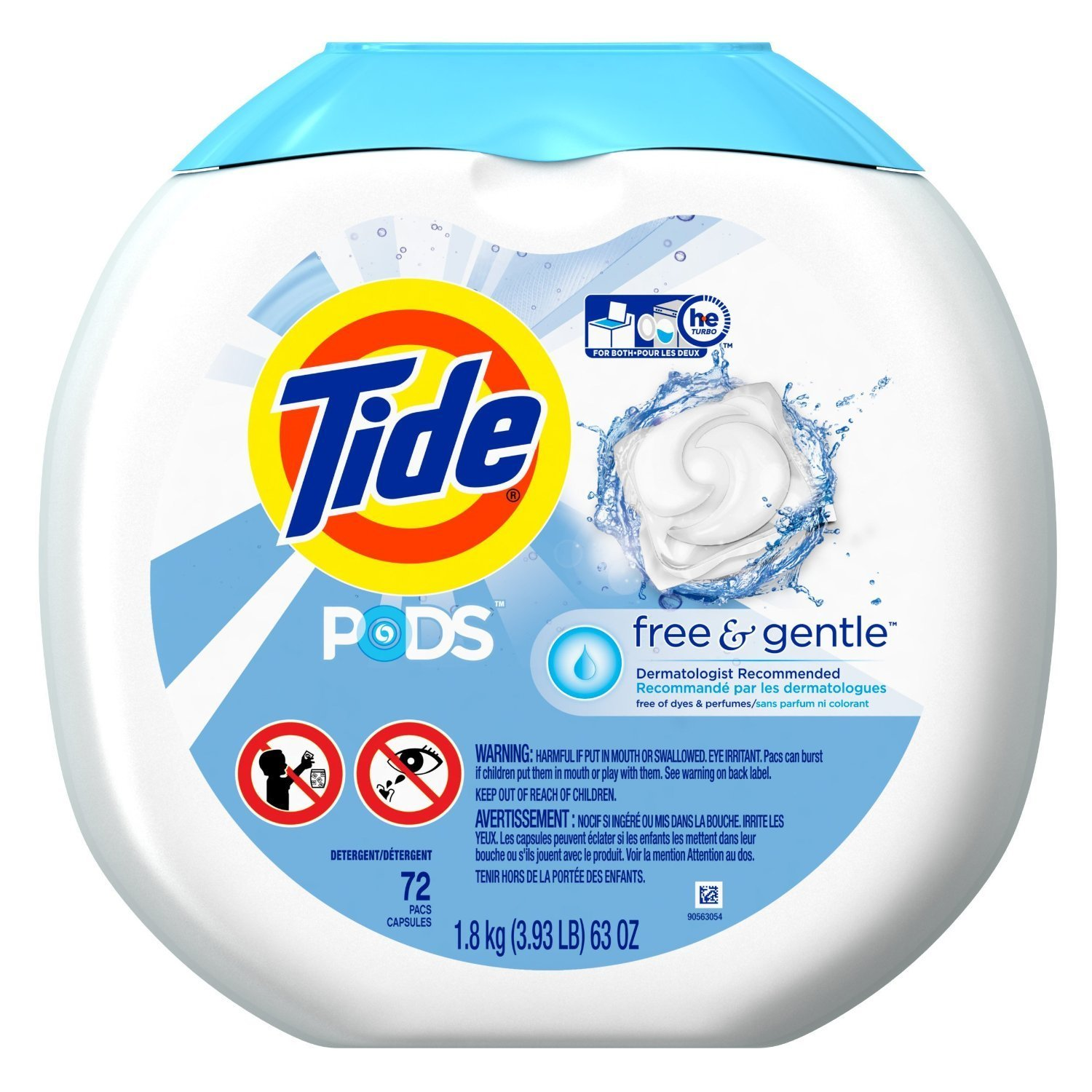 High Efficiency Detergent Brands Amazoncom Tide Pods Free Gentle He Turbo Laundry Detergent