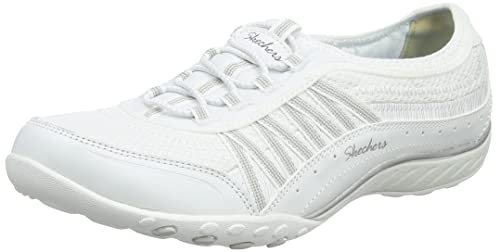 Skechers Breathe Easy-Well Versed, Zapatillas Sin Cordones Para Mujer, Blanco (White), 40 EU
